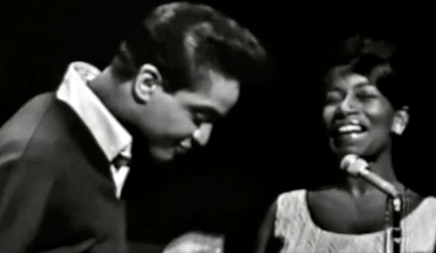Jackie Wilson singing a duet with Shirley Ellis