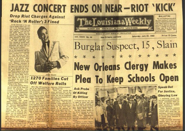 Front page July 23 1960